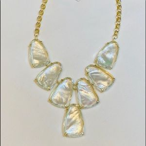Kendra Scott Harlow Necklace Suspended Ivory Pearl